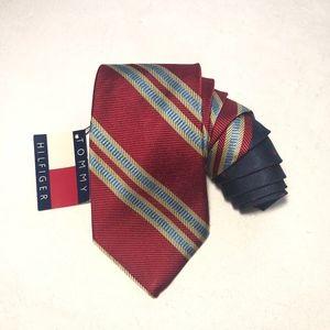 Tommy Hilfiger Men's Necktie NWT Red Yellow Blue